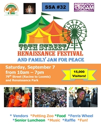 Count Down to Annual 79th Street Renaissance Festival and Family Jam for Peace