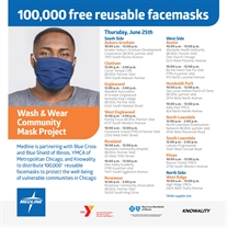 Free Reusable Mask Giveaways June 25th!