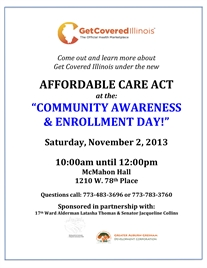Auburn Gresham Affordable Care Act Community Enroll Day Nov. 2nd!