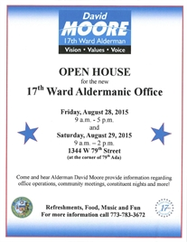 OPEN HOUSE Of Alderman David Moore's New WARD office