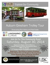 * Ride With Us * Auburn Gresham Trolley Tour * 8/30 *