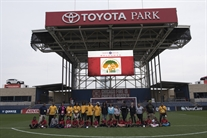 Auburn Gresham GOLD Camp Draws Big Cheers At Toyota Park!