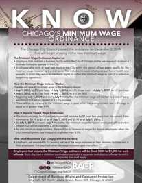 Stay in the KNOW! Know Chicago's Minimum Wage Ordinance.