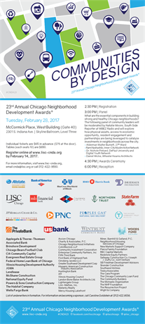23rd Annual Chicago Neighborhood Development Awards, February 28, 2017