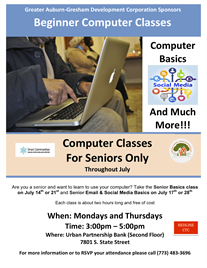 Computer Classes for Seniors Throughout July
