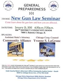 006th District Sponsors New Gun Law Seminar