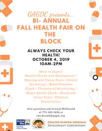 Fall Health Fair on the Block