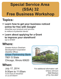 SSA #32 Sponsors Free Business Workshop