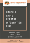 Join Us for GAGDC Rapid Response 'Community Relevant Topic' Conference Calls!