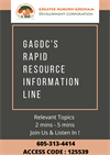 Join Us for GAGDC Rapid Resource  Info Line 'Community Relevant Topic' Conference Calls!
