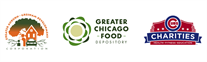 Service of Young athletes volunteer at Greater Chicago Food Depository on MLK Day