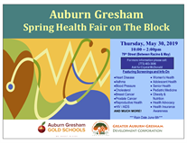 2019 'Spring Health Fair on the Block'  Auburn Gresham