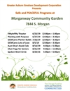 Safe and Peaceful Neighborhood Programming at Morganway Garden in August
