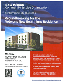 Historic Residence Groundbreaking in Auburn Gresham on Veteran's Day