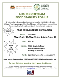 Food Stability 'Pop Up'  Tuesdays at 10:00am