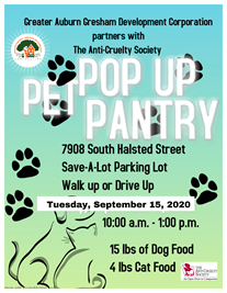 Pop-up Pet Pantry Sept. 15th