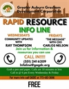 Rapid Info / Resource Call-in Line | Every Wednesday and Friday at 6PM | Call 551-241-6209