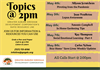 Rapid Resource Information Line - TOPICS@2pm May Week #3 Lineup!