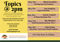 Rapid Resource Information Line - TOPICS@2pm June Week #5 Lineup!