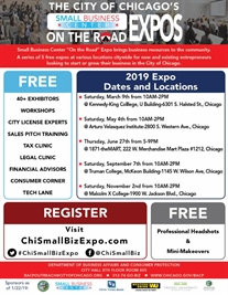 The Small Business Center on the Road Expos are back for 2019!