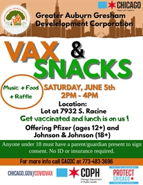 VAX and Snacks Event - Get Vaccinated and Free Lunch is on US!