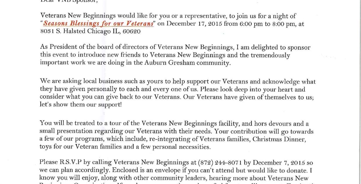 seasons blessings for veterans new beginnings celebration greater auburn gresham development corporation - Christmas Dinner Blessings