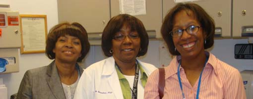 Felecia Morelon (Program Manager), Pamela Beauduy (Nurse Practitioner), Icy Cade-Bell, M.D. (Medical Director)